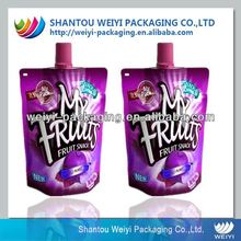 Chinese factory custom drink pouch with spout packaging