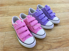 2017 Girls Buckles Strap Canvas School Shoes