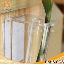 fashional clear vase gems,pmma flower vase,abstract vase flower acrylic painting for wall decor