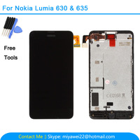 For Nokia Lumia 630 635 3G 4G Moneypenny 4.5 Lcd Display Touch Screen Digitizer Assembly with Frame RM-974 RM-975