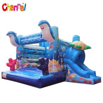 Inflatable moonwalk inflatable jumping bouncer inflatable dolphin jumper
