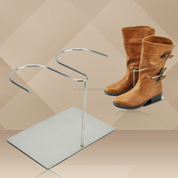 Metal Boot Rack, Double Silver boots holder