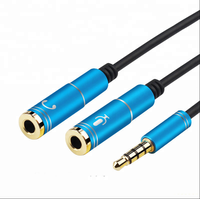 High quality 3.5mm Headphone Mic Audio Y Splitter Cable Male to Dual Female Converter Adapter
