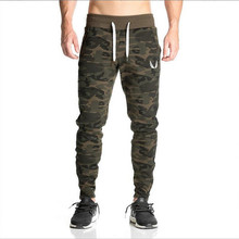 Wholesale gyms pants mens sweat joggers with pocket casual camouflage sweatpants joggers pants skinny trousers jeans