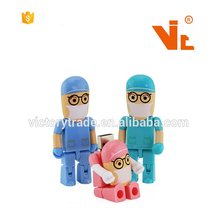 V-UF06 Promotional gift custom doctor nurse shape 2.0 usb flash memory stick pen drive 1gb 2gb 4gb 8gb 16gb