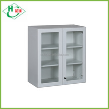 New high-end metal material hanging cabinet with glass door small cabinet