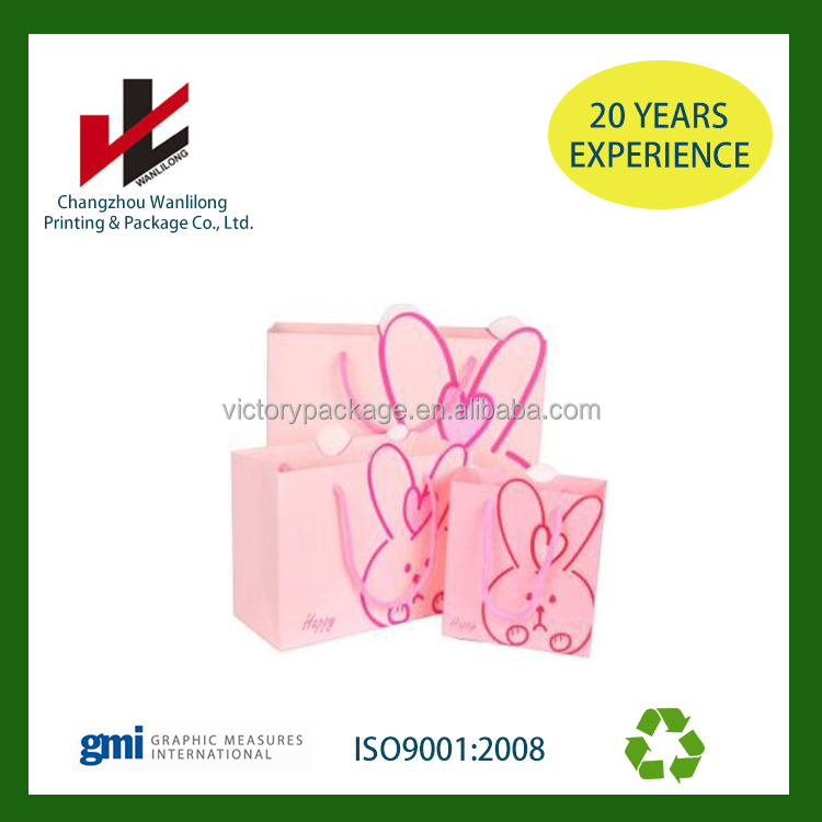 factory price promotional pink shopping gift kraft paper bag wholesale