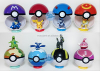 2016 very hot sell of factory mini size 7cm pokemon toys Go Poke Ball various colors pokemon balls toys