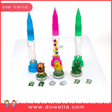 Hot sale promotional Cartoon stationery funny pen with stamp for children