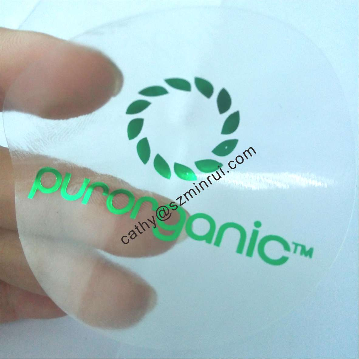 Custom transparent labels printing with different color,custom round clear vinyl stickers with logo,circle transparent stickers