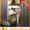 Flexible Glitter Metal Sequin Fabric Silver Curtains