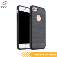 hot selling 2017 amazon carbon fiber tpu phone cover case for iphone 7
