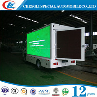 4*2 P10 full color screen outdoor mobile advertising led vedio display truck