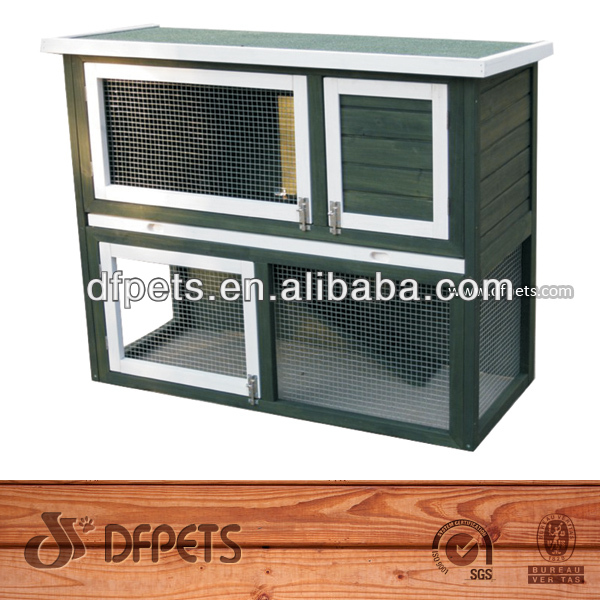 Luxury Double Rabbit Cages Wood For Sale DFR039
