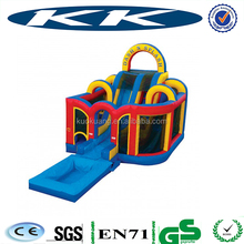 Top inflatable pool water slide tropical inflatable wet or dry slide with pool