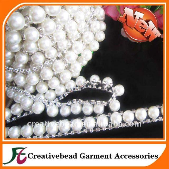 New fashion beads costume chain crystal rhinestone trims for garment shoe