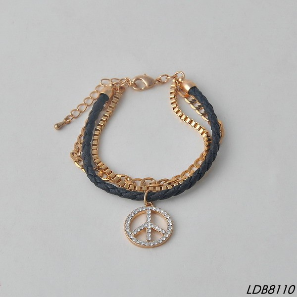 Gold starfish bracelet cuff wrap bracelet with diamond