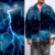 Custom men fashion air layer digital printed lightning pattern fabric for jacket