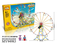 Children park Roller coaster Railway toy set Interesting and exciting roller coaster toy