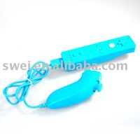 Blue nunchuck and remote controller for wii