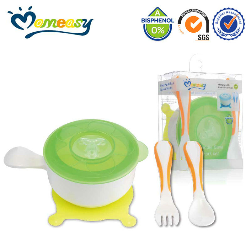 New Arrival best momeasy baby feeding plastic bowl set