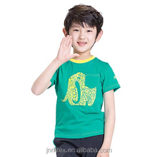 Breathable and soft custom children combed organic cotton screen print t shirt