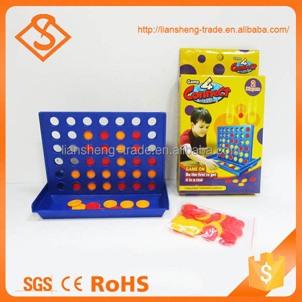 Hot sale plastic intelligence children toy four connect play chess games