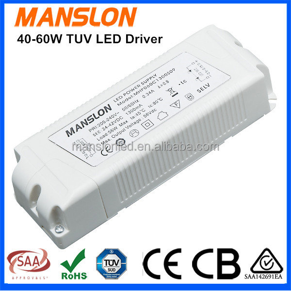 Waterproof high power 40W 45W 60W constant current LED driver IP67 900mA 1050mA 1300mA power supply