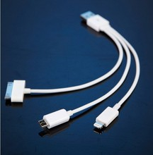3 in 1 mobile phone charging cable,good price data cable for iphone,Android device