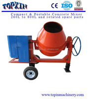 China Towable 300 liters drum capacity industrial cement concrete mixer