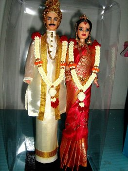 INDIAN WEDDING COUPLE DOLLS