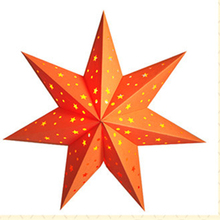 New designe colorful christmas hanging paper star for party decorations wedding