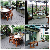 146*30 Anti-slip WPC Grooved Decking for Garden