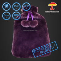 maturely purple color animal cover plush hot water bag