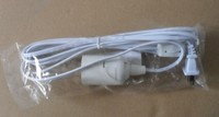 Factory direct sale white color extension cord with 12 feet lamp cable