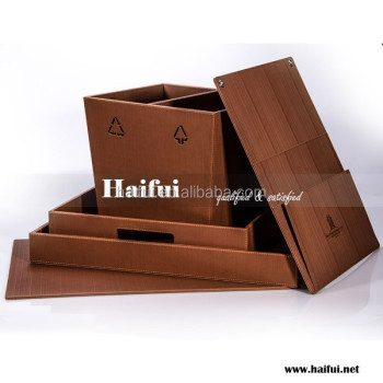 Brown hotel guest room leather products, hotel leather stationery