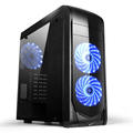 Dust Reduction gaming pc case tempered glass computer with 3.0 USB