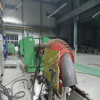 Spirally welded steel pipe heating elbow machine