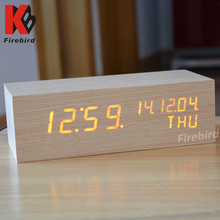 Newest product real wood calendar clock classical men gift set