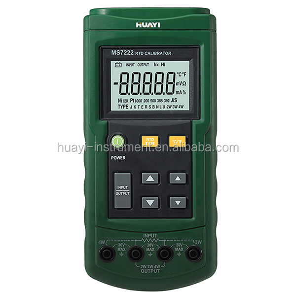 calibrating RTD (Resistance Temperature Detector) transmitters MS7222