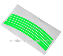 Colorful bicycle self-adhesive sticker glow in dark