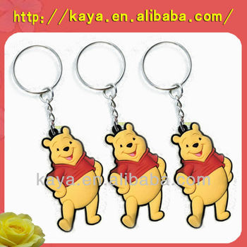 2017 Popular soft rubber promotional key chain, pvc key chain
