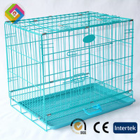 Dog cage stainless steel a large folding fashion wire pet cage