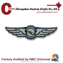 Custom Soft enamel pilot wings lapel pin/metal badge