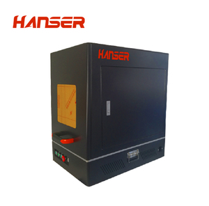 enclosed fiber laser marking engraving machine for copper aluminum stainless