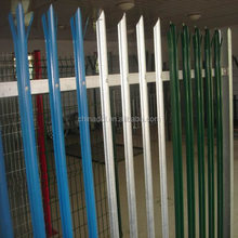 ISO 9001 D Section cold rolled steel palisade fencing