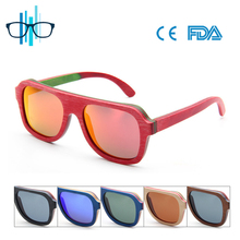 Custom sunglasses skateboard wood sunglass