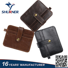 China Supplier New Men PU Leather Vintage Sim Wallet ID Credit Card Holder Case