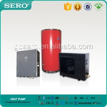 High COP in low temperature air to water heat pump with CE