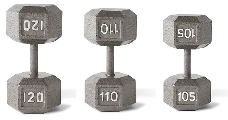 Hammertone Solid Cast Iron Dumbbells